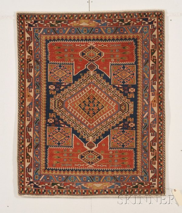 4: Karagashli Rug, Northeast Caucasus, early 20th centu