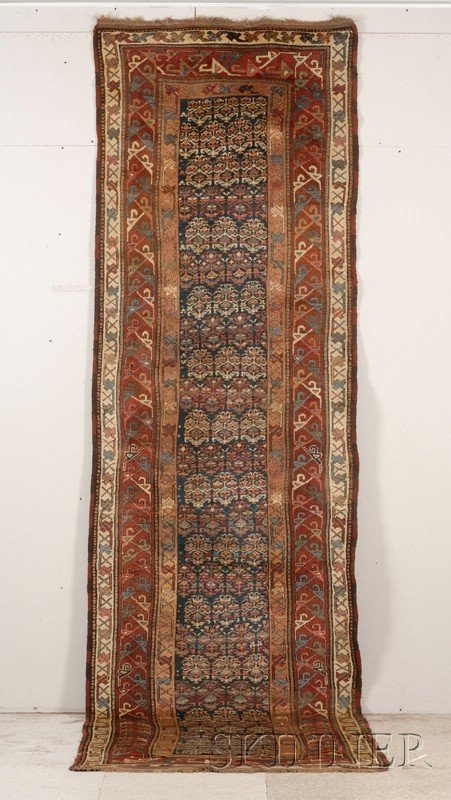 6: South Caucasian Long Rug, late 19th century, (very s