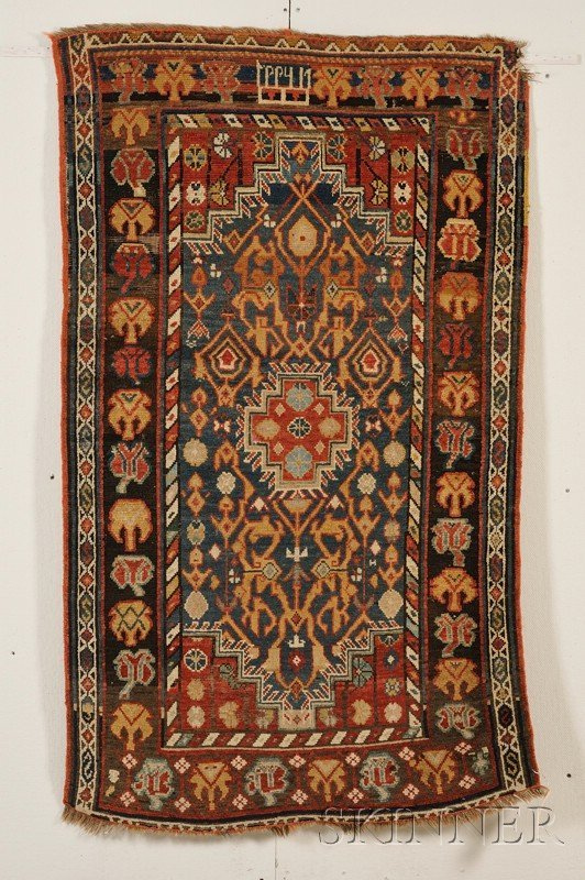 9: Kuba Rug, Northeast Caucasus, dated 1882, (small cor