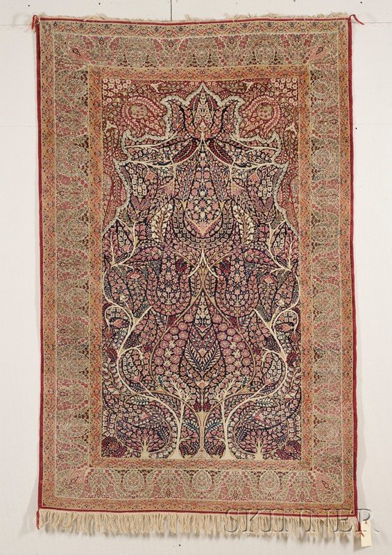 11: Kerman Prayer Rug, Southeast Persia, late 19th cent