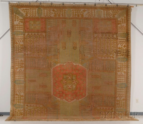 309: Ushak Carpet, West Anatolia, late 19th century, (a