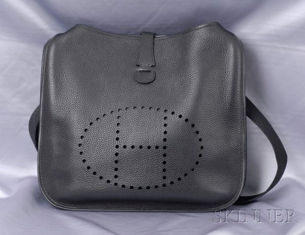 "14: Leather ""Evelyne"" Handbag, Hermes, the GM size shou"