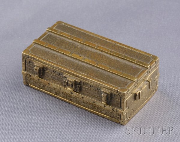 19: Miniature Brass Traveling Case, Louis Vuitton, c. 1