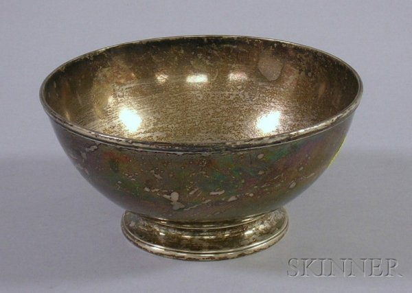 1: Jones, Lows & Ball Coin Silver Footed Bowl, Boston,