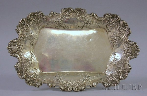 12: Thomas S. Starr Sterling Silver Rectangular Tray, d