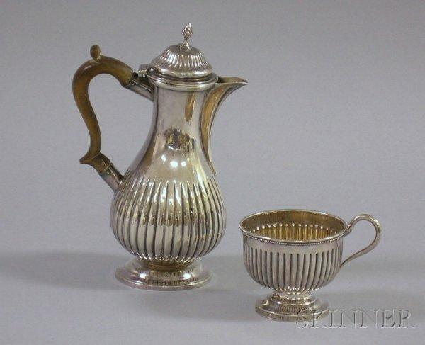 14A: George III Silver Chocolate Pot, London. 1808, Cha