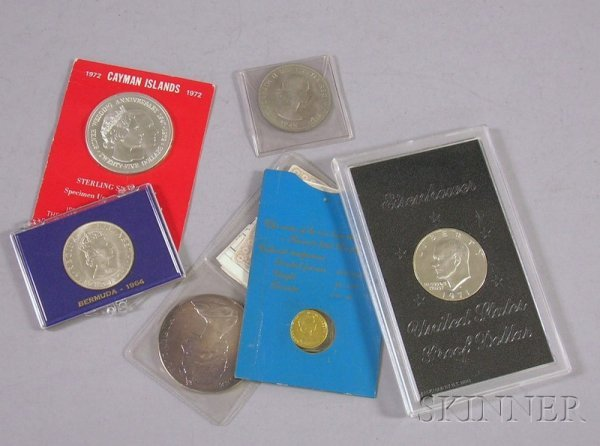 15: Six Gold and Silver Collectible Coins, a 1964 Bermu