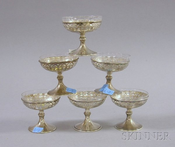17: Set of Six Frank Whiting Sterling Silver Sherbet Cu