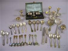 111A Group of Sterling and Silver Plated Flatware and