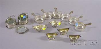 119A Group of Sterling and Silver Plated Table Items