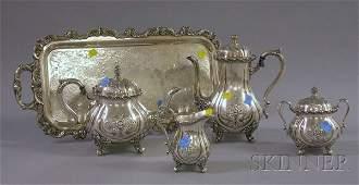 196: Five-Piece Wilcox International Silver Plated Tea