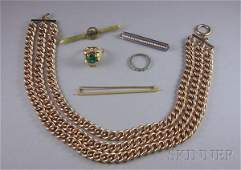 230 Group of Assorted Jewelry Items including a plati