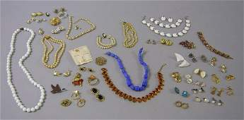 272 Group of Costume Jewelry including a Trifari whit