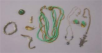 349 Small Group of Assorted Jewelry Items including a
