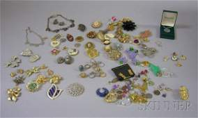 545 Group of Costume Jewelry including a Shakudo brac
