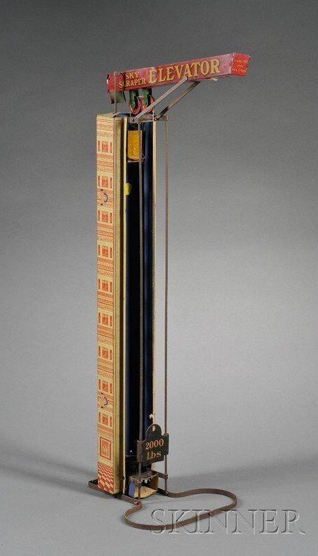 "802: Wolverine Lithographed Steel ""Sky Scraper Elevator"
