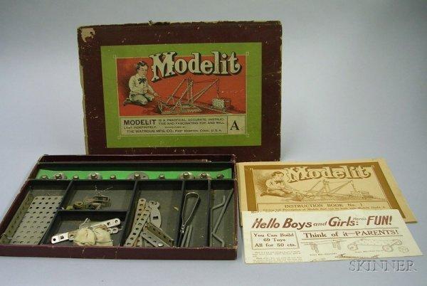 803: Modelit Construction Toy in Original Box, by Watro