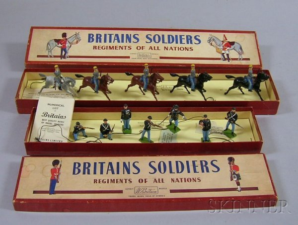806: Two Boxes of W. Britains Painted American Civil Wa