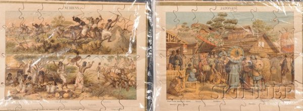 810: Set of Lithographed Paper-on-Wood Jigsaw Puzzles,