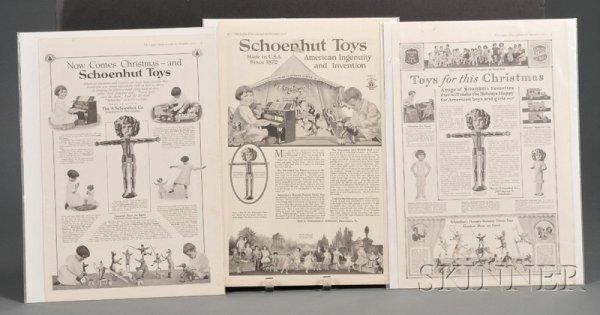 811: Three Schoenhut Advertisements, from Ladies' Home