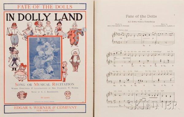 """815: Ten Copies of """"In Dolly Land"""" Sheet Music, copyrig"""