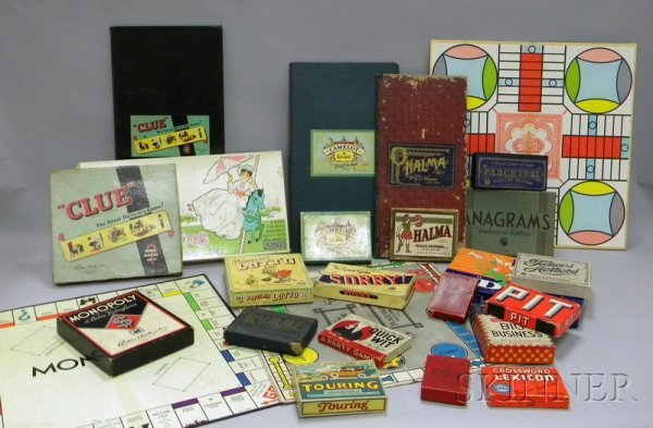 816: Nineteen Mostly Early 20th Century Games and Board