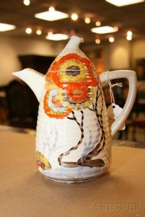 3: Clarice Cliff Bizarre Ware Five-Piece Coffee Set, En