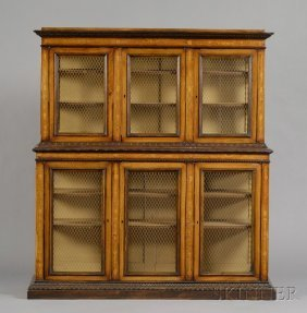 6: Italian Renaissance-style Fruitwood-inlaid and Penwo