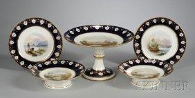 8: Eighteen-Piece Hand-painted Porcelain Dessert Servic