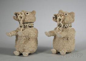 11: Two Similar Staffordshire White Saltglazed Stonewar