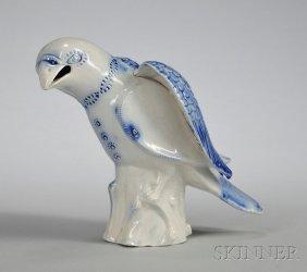 Staffordshire Saltglazed Stoneware Model Of A Hawk,