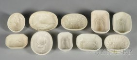 15: Ten Small Creamware Culinary Molds, England, late 1