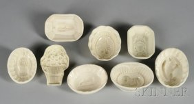 24: Eight Small Creamware Culinary Molds, England, late