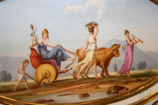 484: Extensive Empire Paris Porcelain Dinner Service, m