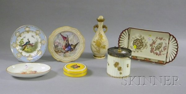 22: Seven Assorted Wedgwood Decorated Ceramic Items, a