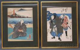 143: Two Japanese Woodblock Prints, including Kunisada