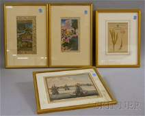 602 Nine Assorted Framed Decorative Prints and Paintin