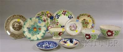648 Eleven Pieces of Decorated English and Continental