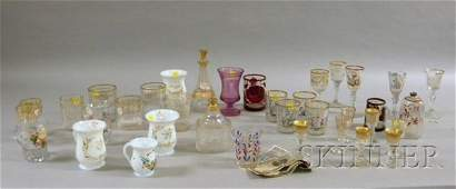 695: Thirty-seven Pieces of Assorted 19th Century Bohem