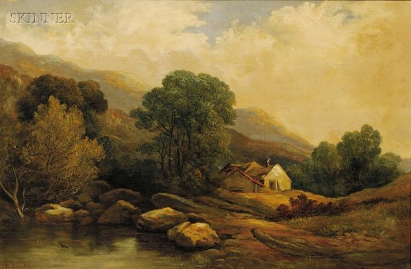 868: Lot of Two Landscapes: Harry Bright (British, 1814