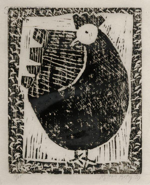 13: Milton Avery (American, 1885-1965) Hen, 1954, editi