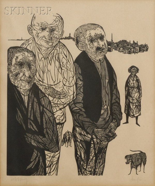 14: Leonard Baskin (American, 1922-2000) View of Worces