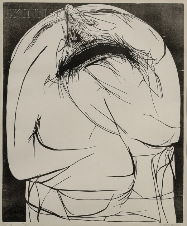 15: Leonard Baskin (American, 1922-2000) The Cry, 1960,