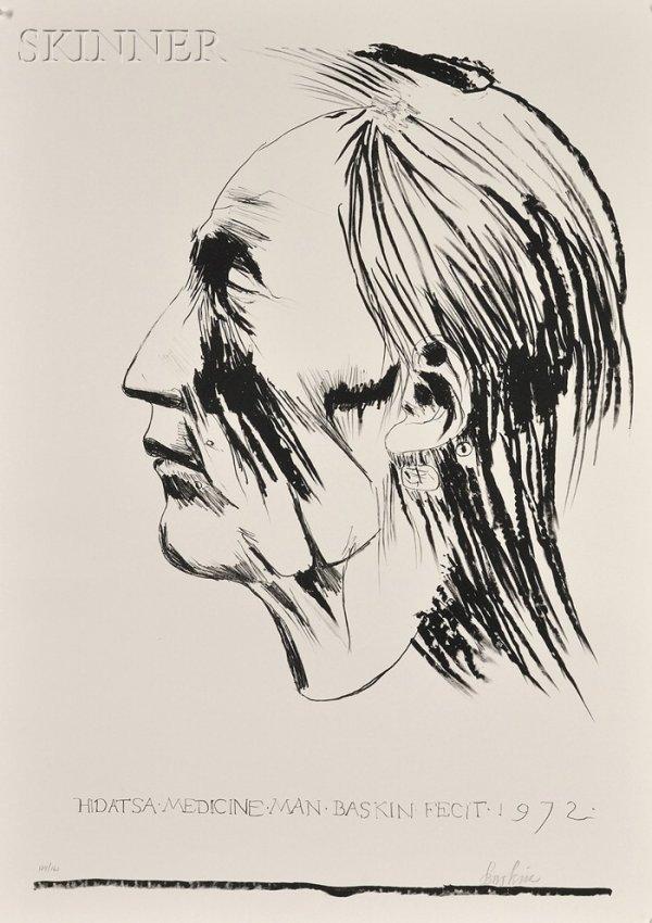 18: Leonard Baskin (American, 1922-2000) Hidatsa Medici