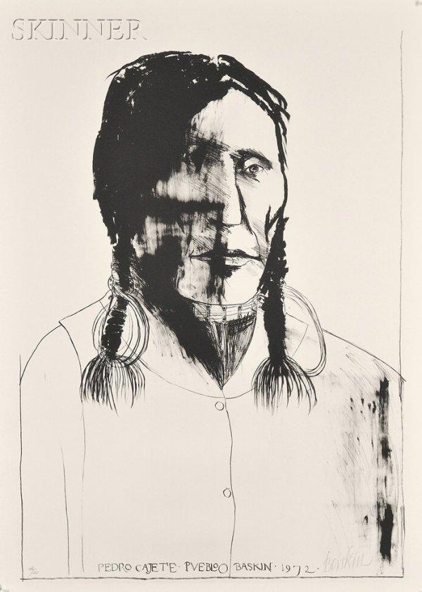 19: Leonard Baskin (American, 1922-2000) Pedro Cajete,