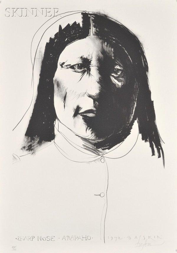 20: Leonard Baskin (American, 1922-2000) Sharp Nose, 19