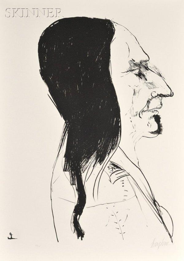 21: Leonard Baskin (American, 1922-2000) Sitting Bull,