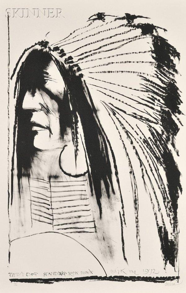 22: Leonard Baskin (American, 1922-2000) Swift Dog, 197