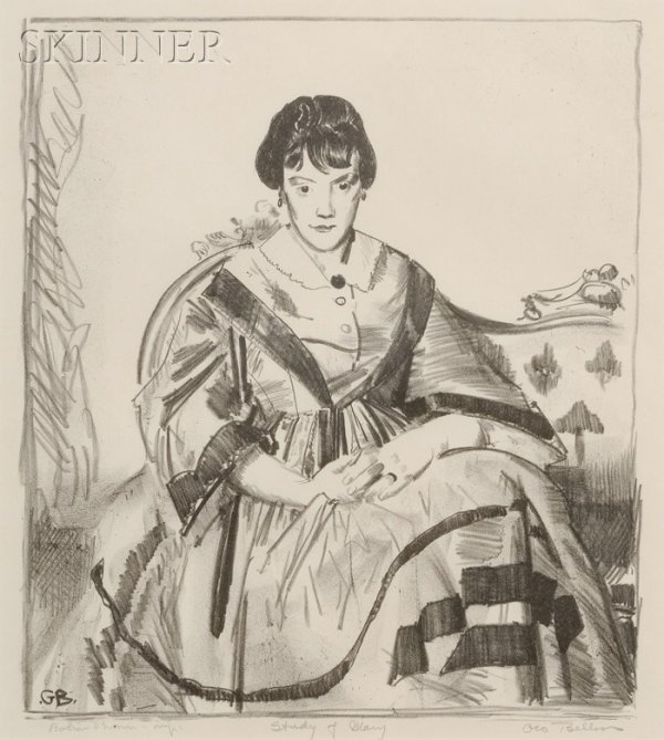 23: George Wesley Bellows (American, 1882-1925) Study o