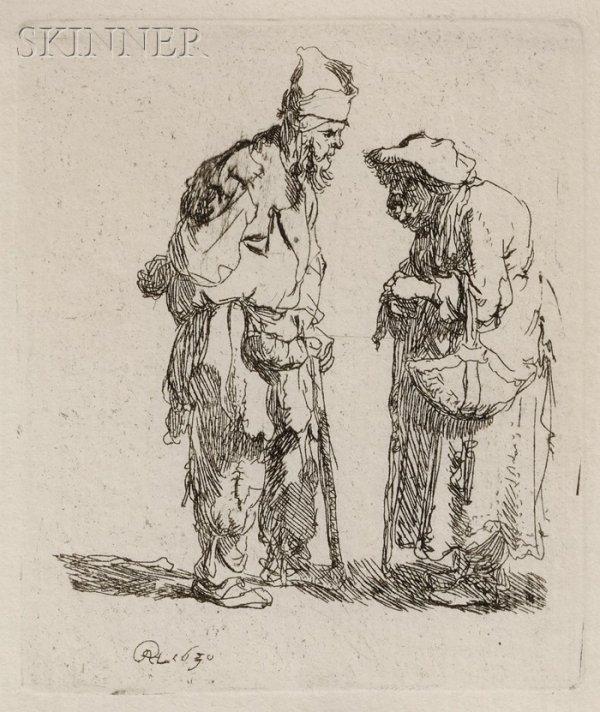 204: Rembrandt van Rijn (Dutch, 1606-1669) Beggar Man a